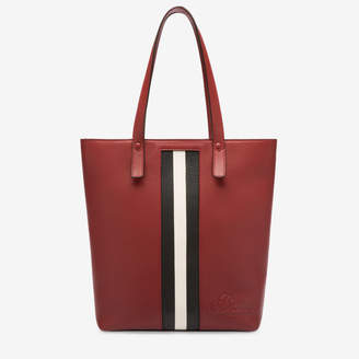 Bally Tess Red, Women's grained bovine leather tote bag in Red
