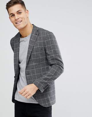 Selected Slim Fit Checked Blazer