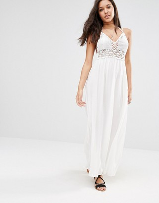 Missguided Crochet Top Maxi Dress $60 thestylecure.com