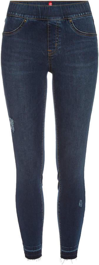 Distressed Denim Leggings