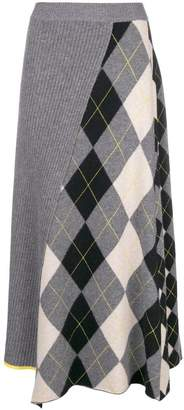 Pringle Argyle knitted skirt