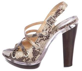 MICHAEL Michael Kors Snakeskin Platform Sandals