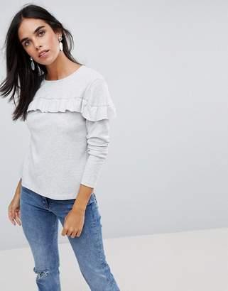 Vila Ruffle Sweatshirt