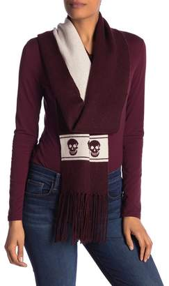 SKULL CASHMERE Ripley Skull Wool Cashmere Blend Scarf
