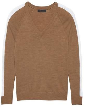 Banana Republic Washable Merino Side-Stripe Sweater