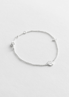 And other stories Duo Pendant Thin Chain Bracelet