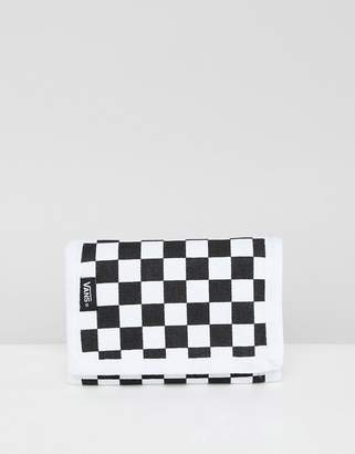 Vans checkerboard wallet in black VN000C32Y281