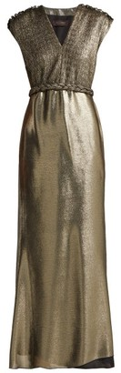 Max Mara Bacio Dress - Womens - Gold