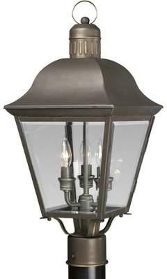 Alcott Hill Triplehorn 3-Light Lantern Head in Bronze