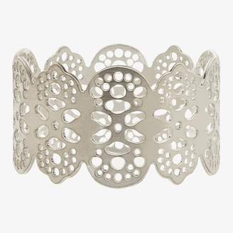 ABC Home Eyelet Napkin Ring Silver