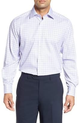 David Donahue Regular Fit Check Dress Shirt