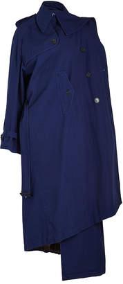 Balenciaga Draped Cotton Trench Coat