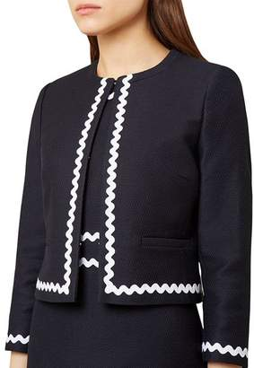 Hobbs London Melonie Textured Cropped Jacket