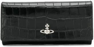 Vivienne Westwood faux croc design foldover wallet