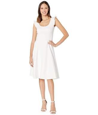 Calvin Klein Ruffle Arm A-Line Dress
