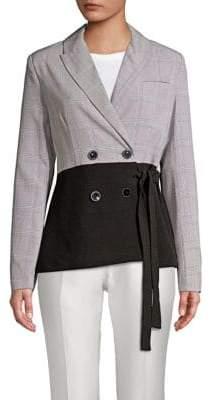 Sophie Waist-Tie Suit Jacket