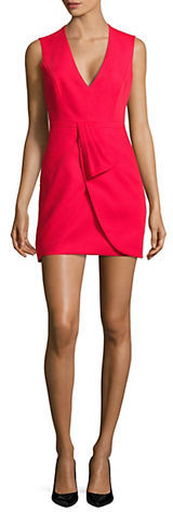 BCBGMAXAZRIABcbgmaxazria Clare Draped Tulip-Skirt Dress