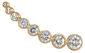 Sophie Bille Brahe 'Croissant Claire' diamond 18k yellow gold single climber earring
