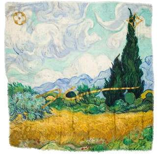 Louis Vuitton 2017 Masters Collection Van Gogh Monogram Shawl