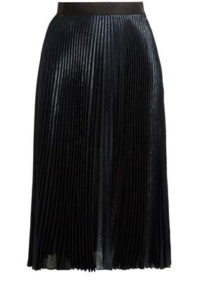 Christopher Kane DNA pleated lamé skirt