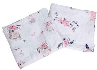 Bebe Au Lait Classic 2-Pack Muslin Swaddle Blankets