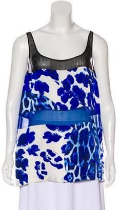 Just Cavalli Sleeveless Silk Top