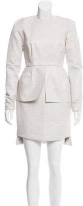 Ellery Long Sleeve Peplum Dress