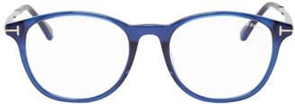 Tom Ford Blue Blue Block Soft Rounded Glasses