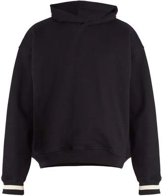 Fear Of God Striped-cuff cotton hooded sweatshirt