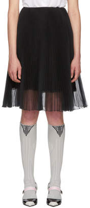 Prada Black Pleated Chiffon Skirt
