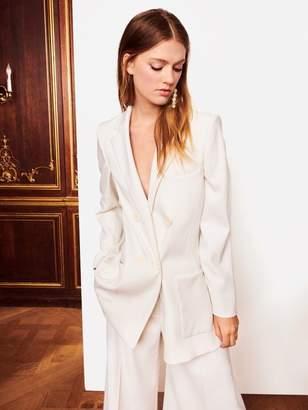 Oscar de la Renta Double-Breasted Gabardine Jacket