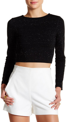 David Lerner Long Sleeve Cropped Pullover $144 thestylecure.com