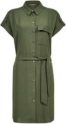 0c470f138dc Dorothy Perkins Womens Khaki Short Sleeve Shirt Dress