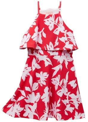 N. Love...Ady Pop Over Fit Flare Dress (Little Girls & Big Girls)