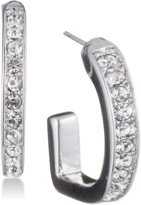 DKNY Pave D-Hoop Earrings, Created for Macy's