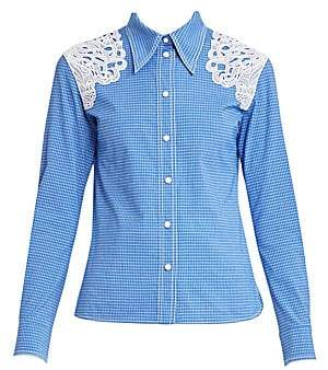 Chloé Women's Lace Detail Western Shirt