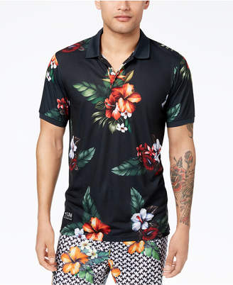 Lrg Men's Double Shots Floral-Print Polo