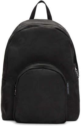 Alexander McQueen Black Small Jacquard Backpack