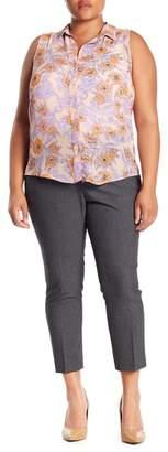 Amanda & Chelsea Elastic Back Melange Ankle Pants (Plus Size)