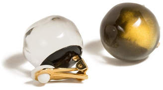Alexis Bittar Button Clip-On Earrings