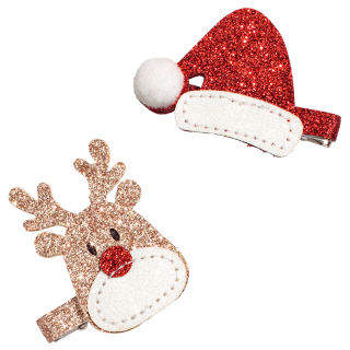 H&M 2-pack glittery hair clips - Red