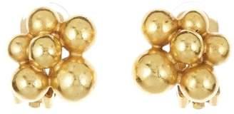 Oscar de la Renta Mimosa Button Earrings