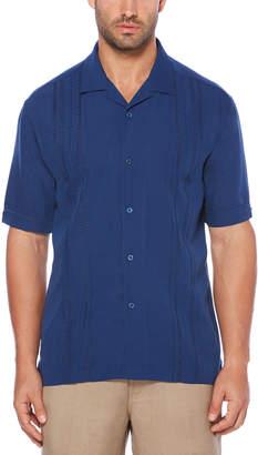 Cubavera Big & Tall Stitch Mix Panel Camp Shirt