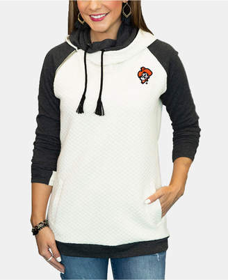 Couture Gameday Women Oklahoma State Cowboys Quilted Hooded Sweatshirt