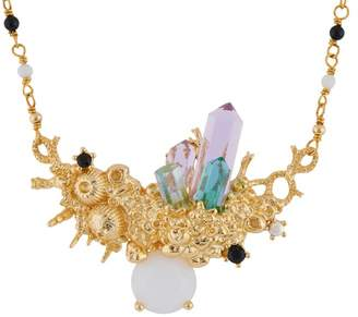 Les Nereides Crystal Vein Submerged Crystals Necklace - Multicolor