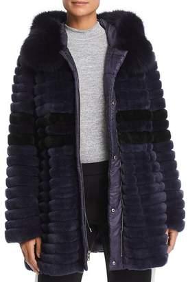 Maximilian Furs Reversible Rabbit Fur & Down Coat - 100% Exclusive