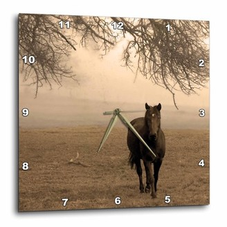 3dRose The Old Oak and The Steed, Wall Clock, 10 by 10-inch