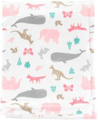 Carter's Baby Girl Animal Velboa Blanket