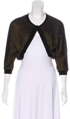L'Wren Scott Metallic Cropped Cardigan
