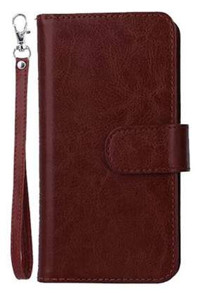ONLINE New 9 Card Slots Holder Flip Wallet Leather Cover with Strap for iph one6/6s